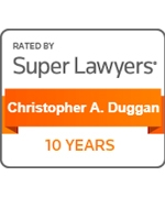 Super Lawyers  Christopher Duggan 10 Years